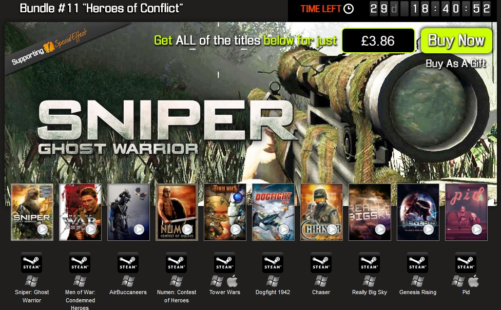 Bundle Stars Heroes of Conflict